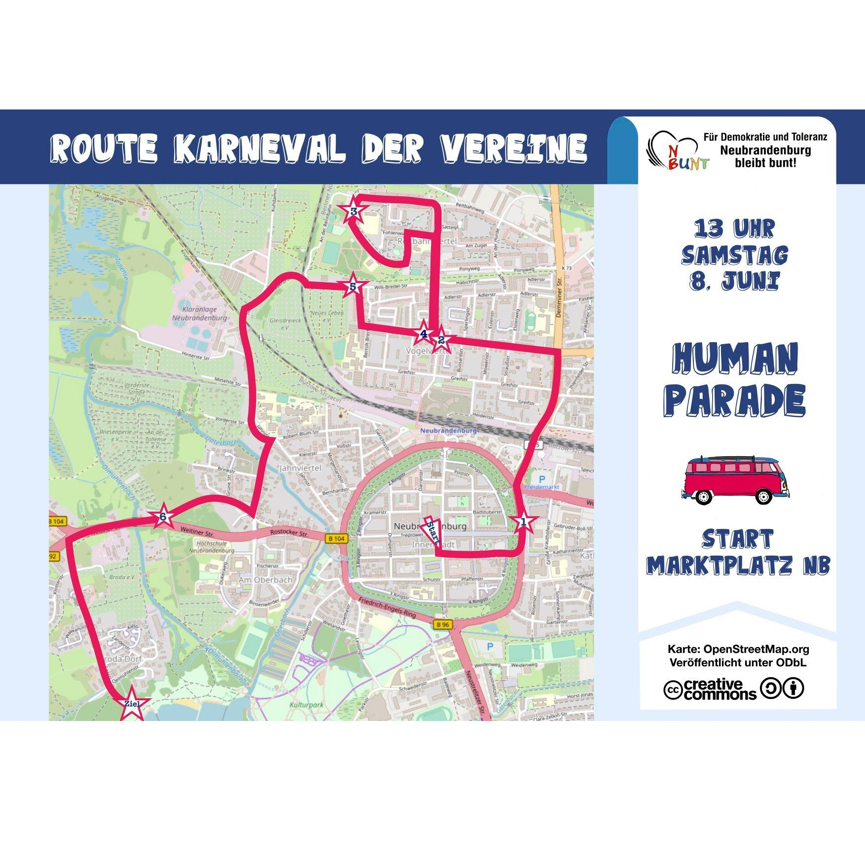 Human Parade - Route